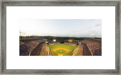 Home Of The Dodgers Framed Print by Mountain Dreams