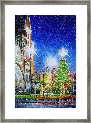 Home Town Christmas Framed Print by Darren Fisher