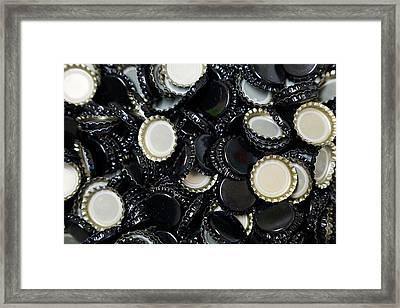 Homebrew Bottlecaps Framed Print by Joshua Rainey