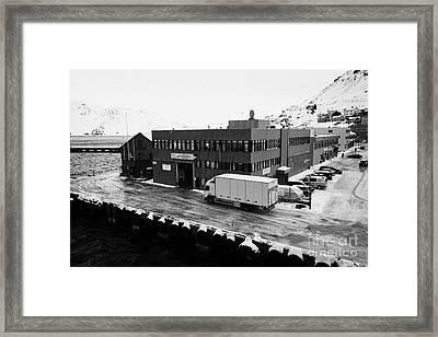 Honningsvag Isps Terminal Finnmark Norway Europe Framed Print