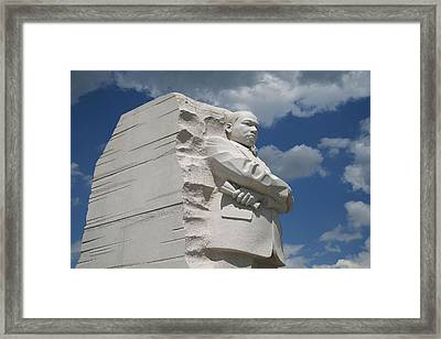 Framed Print featuring the photograph Honoring Martin Luther King by Cora Wandel