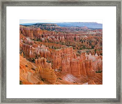 Hoodoo Rock Formations In A Canyon Framed Print by Panoramic Images