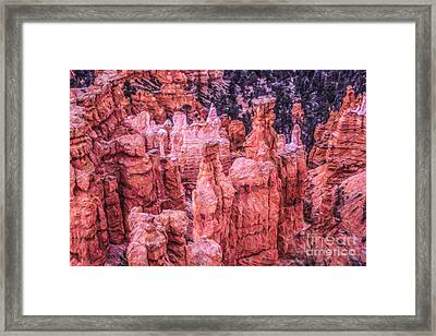 Hoodoos Bryce Canyon Utah Framed Print by Liz Leyden