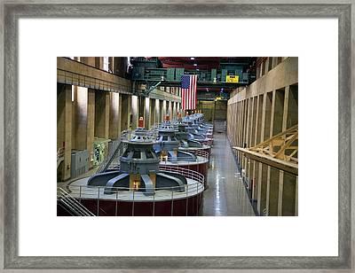 Hoover Dam Turbine Hall Framed Print