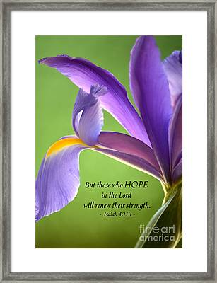 Hope Framed Print by Deb Halloran