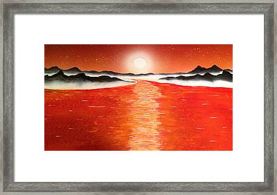 Framed Print featuring the painting Horizon by Michael Rucker