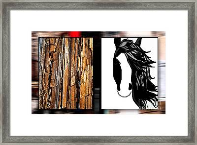Horse Painting Framed Print