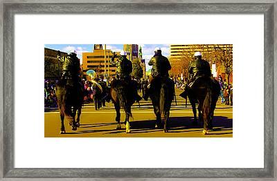 Horse Patrol Framed Print