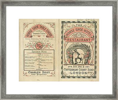 Horse Shoe Hotel And Restaurant Framed Print by British Library