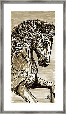 Horse Twins I Framed Print