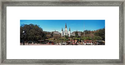 Horsedrawn Carriages On The Road Framed Print by Panoramic Images