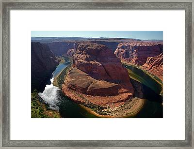 Horseshoe Bend, 1000 Ft Framed Print by David Wall