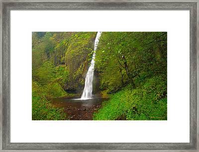 Horsetail Falls Framed Print by Steve Warnstaff
