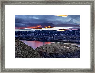 Horsetooth At Sunset Framed Print by Bob Younger