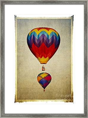 Hot Air Balloons Framed Print by Elena Nosyreva