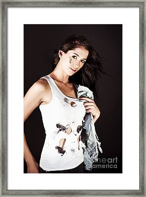 Hot And Hard Working Mechanic Framed Print by Jorgo Photography - Wall Art Gallery