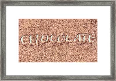 Hot Chocolate Framed Print by Tom Gowanlock