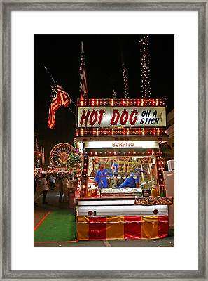Hot Dog On A Stick Framed Print by Peter Tellone