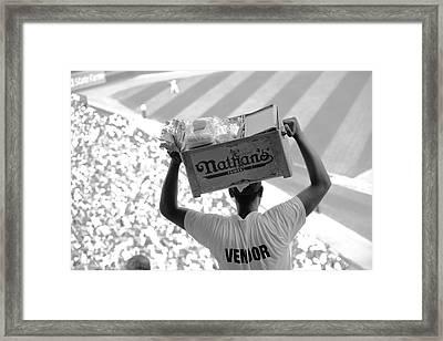 Hot Dog Vendor Framed Print by Frank Romeo