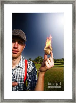 Hot Sport Framed Print