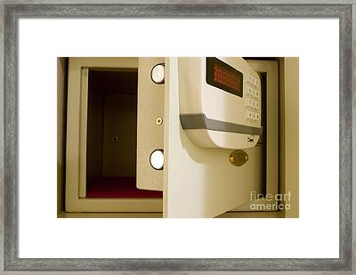 Hotel In-room Safe With Open Door Framed Print by Mark Williamson