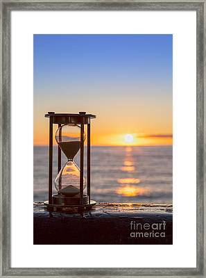 Hourglass Sunrise Framed Print
