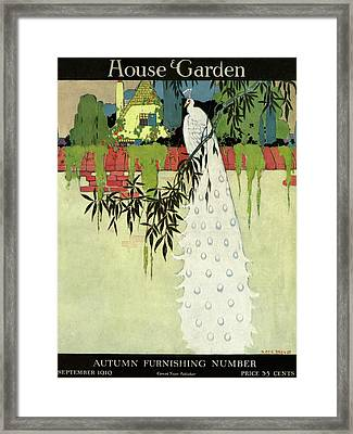House And Garden Cover Framed Print by H. George Brandt