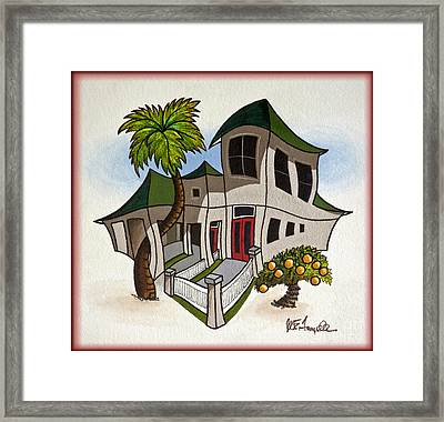 House Caricatures For Sale Framed Print by Walt Foegelle