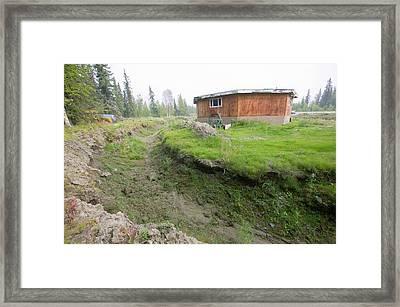 House In Fairbanks Alaska Collapsing Framed Print