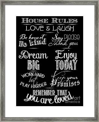House Rules Framed Print
