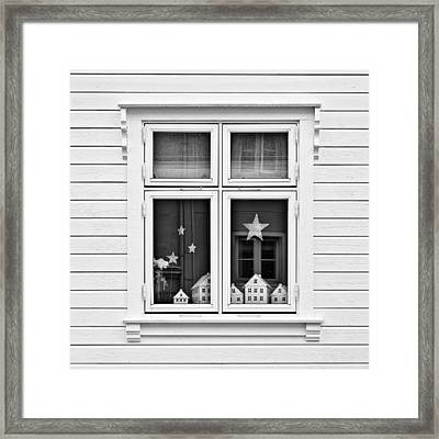 Houses And Windows Framed Print by Dave Bowman