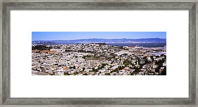 Houses In A City, San Francisco Framed Print