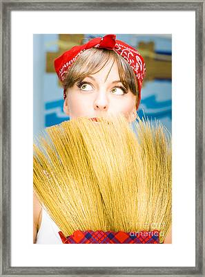Housewife Framed Print by Jorgo Photography - Wall Art Gallery