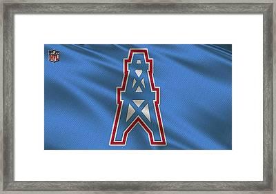 Houston Oilers Uniform Framed Print by Joe Hamilton