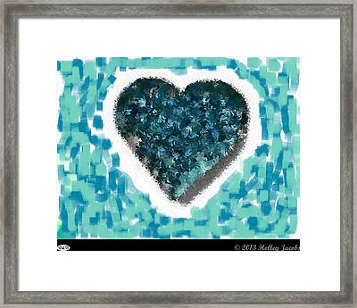 How Do I Live Teal Framed Print by Holley Jacobs