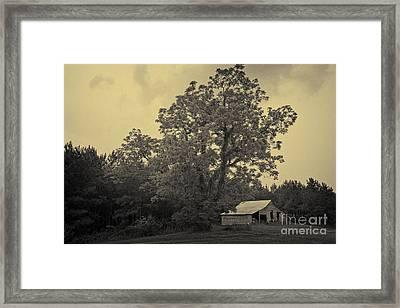 Howard Barn Framed Print by Russell Christie