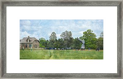 Hrh Prince Harry And Greenwich Polo Club Framed Print