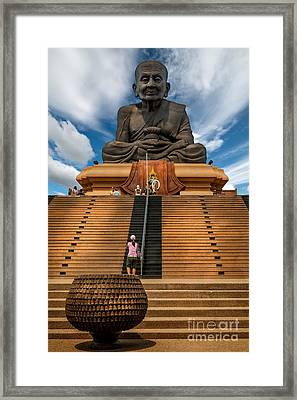 Huay Mongkol Temple Framed Print by Adrian Evans
