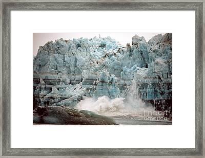 Hubbard Glacier 1986 Framed Print by Mark Newman