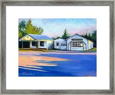 Huckstep's Garage Free Union Virginia Framed Print by Catherine Twomey