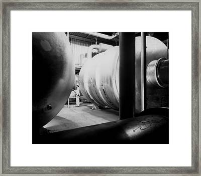 Huge Compressors And Converters Framed Print by Everett