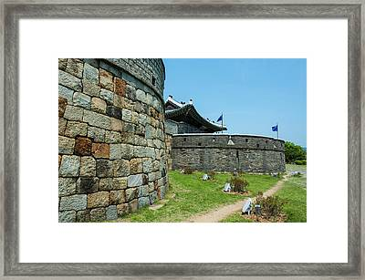 Huge Stone Walls Around The Unesco Framed Print