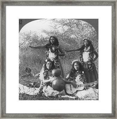 Hula Dancers, C1905 Framed Print by Granger