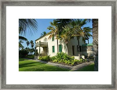 Hulihee Palace, Kailua-kona, Big Framed Print by Douglas Peebles