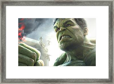 Hulk The Avenger Framed Print by Movie Poster Prints