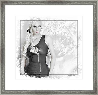 Human And Animal Framed Print