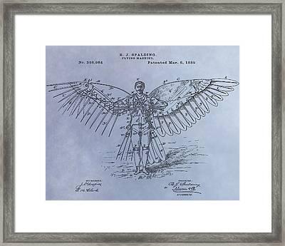 Human Flight Patent Framed Print by Dan Sproul