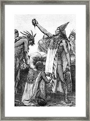 Human Sacrifice Framed Print by Collection Abecasis