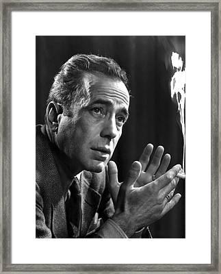 Humphrey Bogart Portrait 2 Karsh Photo Circa 1954-2014 Framed Print