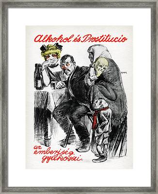 Hungarian Communist Propaganda Poster Framed Print